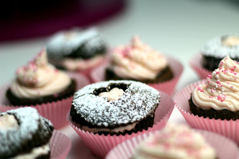 Himbeer-Schokoladen Cupcakes