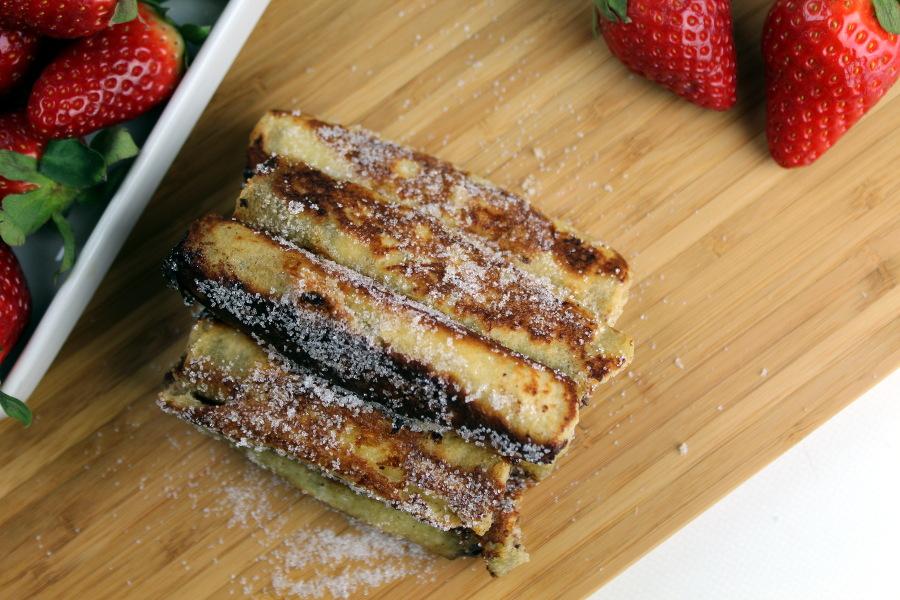 French Toast Rolls mit Erdbeeren und Nutella2