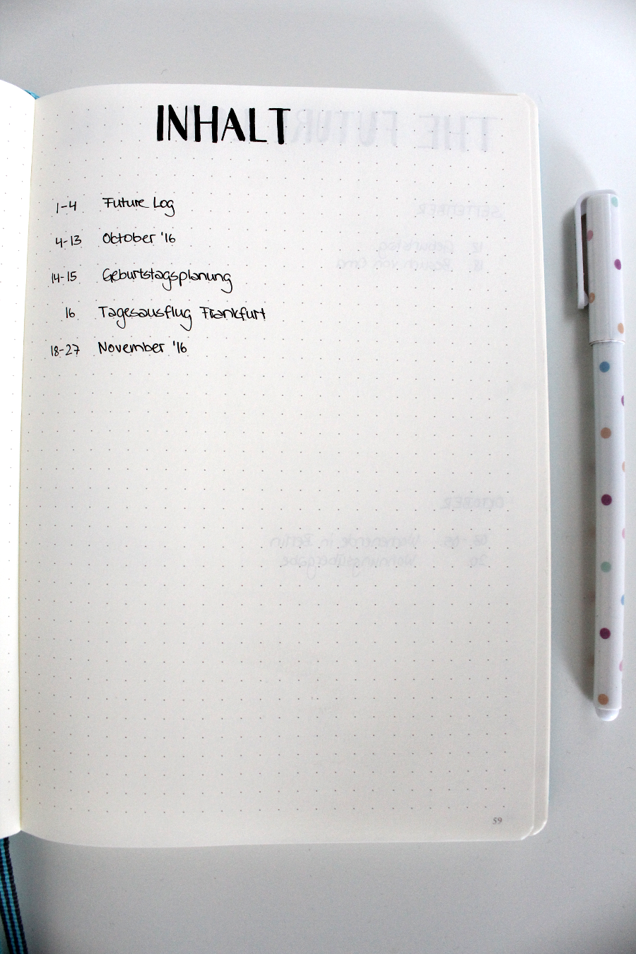bullet-journal-index