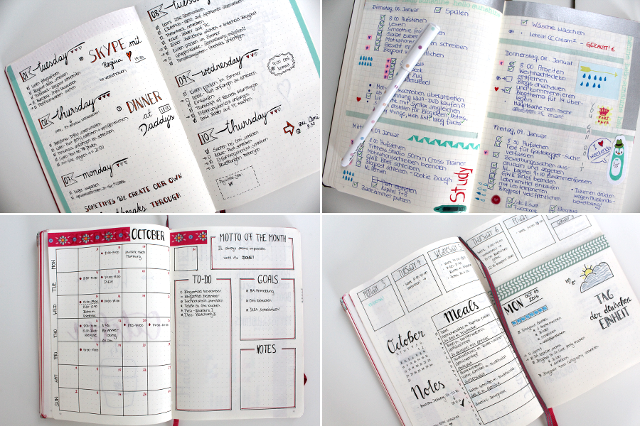bullet-journal-layouts