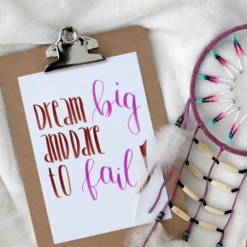 Dream big and dare to fail!