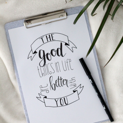 The good things in life are better with you!