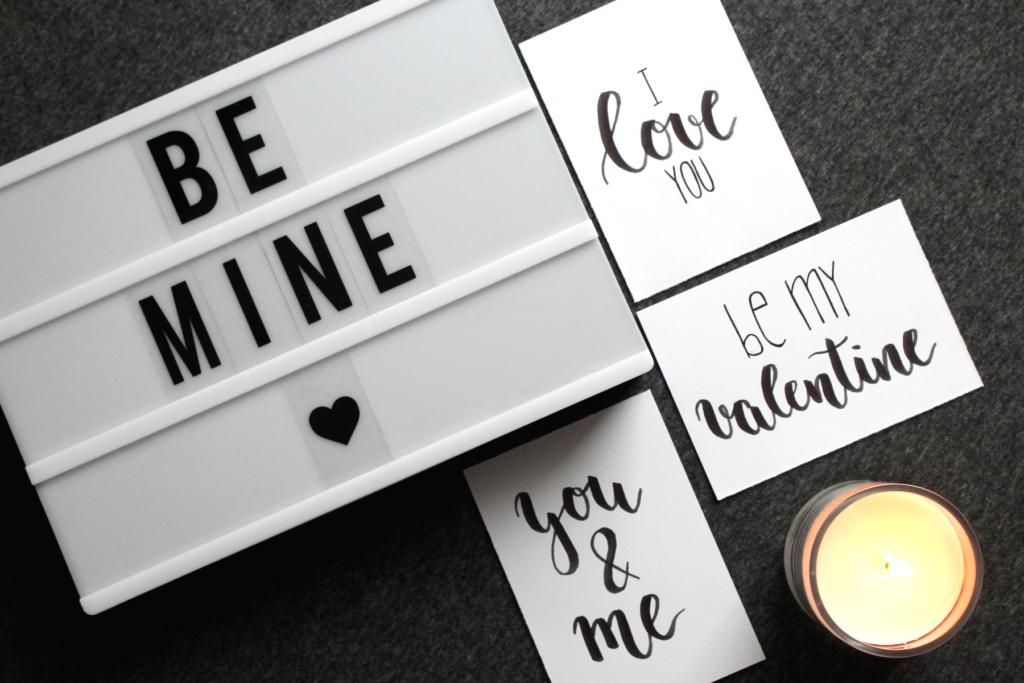 Handlettering Kostenlose Printables Zum Valentinstag Fur Karten
