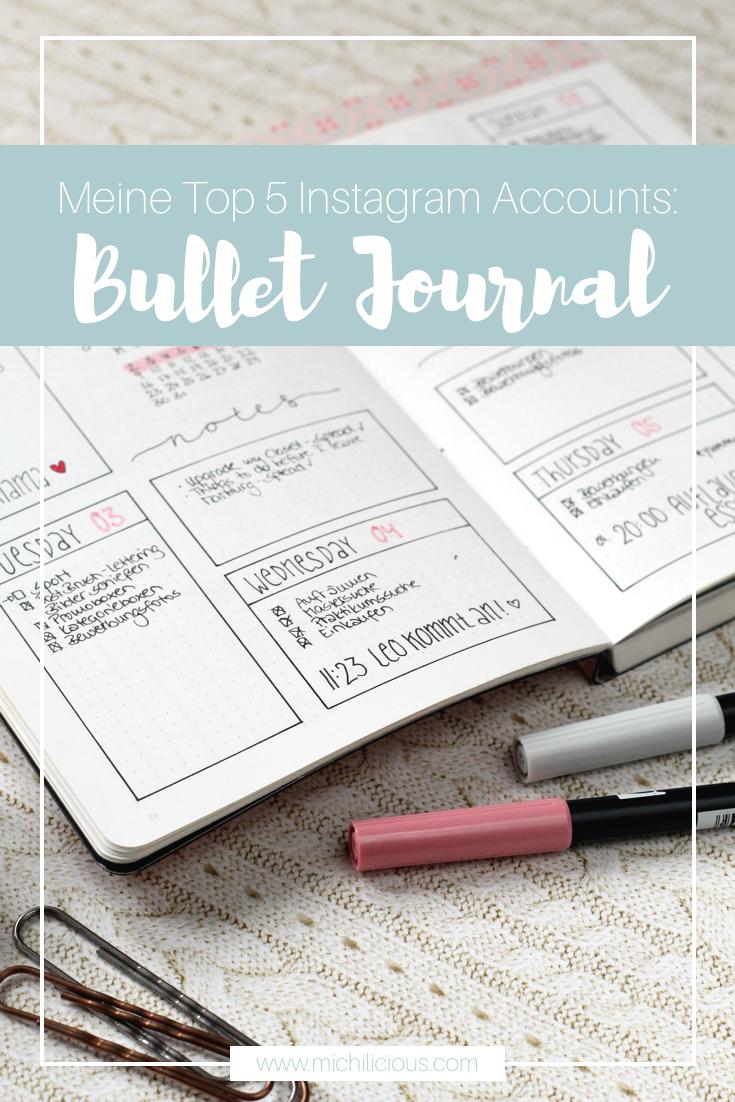 Favourite Instagram Accounts Bullet Journal