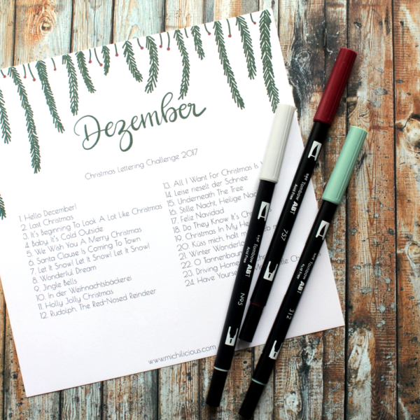 Christmas Lettering Challenge 2017