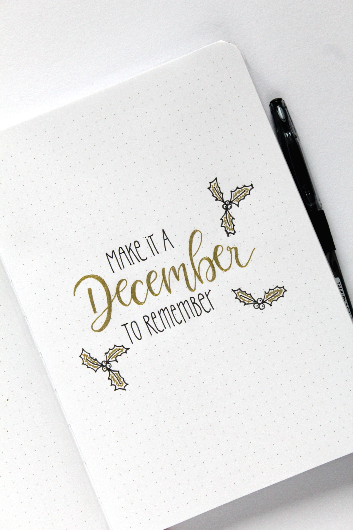 Christmas Set-Up pilot Bullet Journal